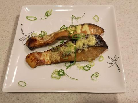 鮭の生姜マヨ焼き (7)