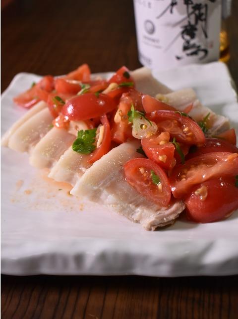 塩茹で豚バラのフレッシュトマトソース (1)