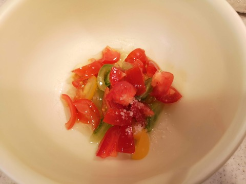 ビンチョウマグロの炙りカルパッチョ (2)