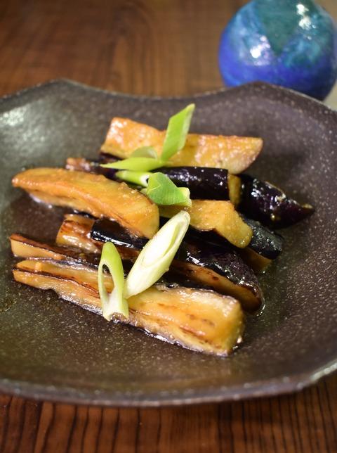 茄子の味噌バター炒め (1)
