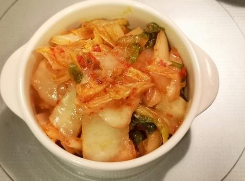 白菜漬け物のピリ辛和え (4)