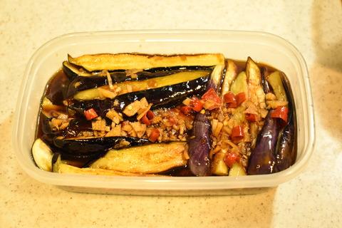 茄子の香味冷菜 (8)