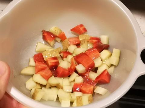 蒸し大豆と根菜のダイスサラダ (3)