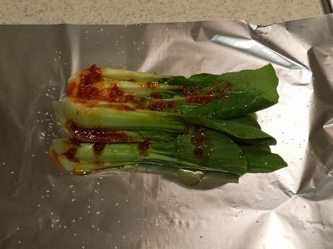 チンゲン菜のピリ辛ホイル焼き (4)