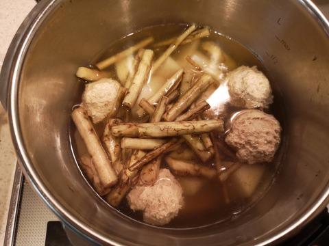 鶏団子と根菜の煮物 (6)