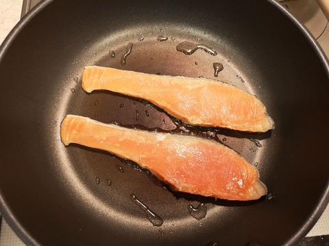 鮭の照焼き (3)