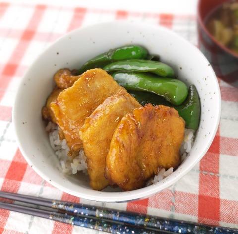鶏むね肉の照焼き丼 (1)