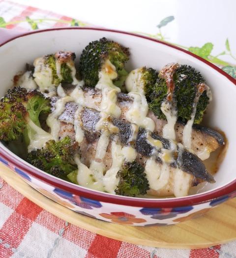 生鮭とブロッコリーマヨネーズ焼き (1)