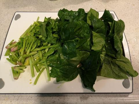 ほうれん草のボールサラダ (2)