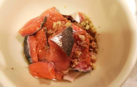 秋鮭の唐揚 (3)