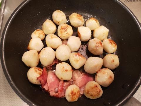 里芋とベーコンの蒸し焼き (4)