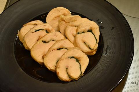 鶏むね肉の味噌ロール (1)