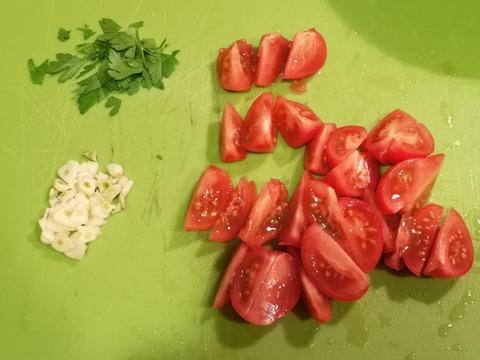 塩茹で豚バラのフレッシュトマトソース (4)