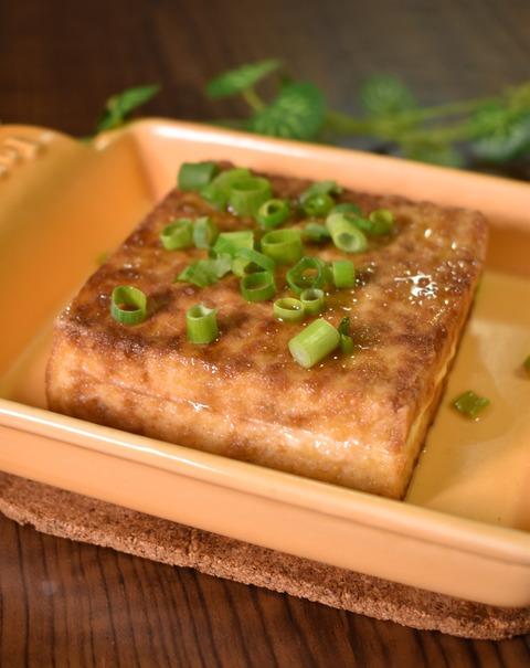 厚揚げの醤油マヨネーズ焼き (1)