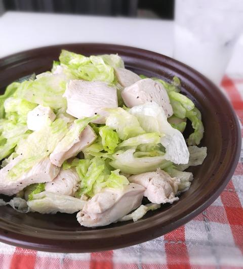 鶏むね肉の茹でサラダ (1)