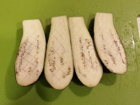 茄子のごま味噌焼き (2)