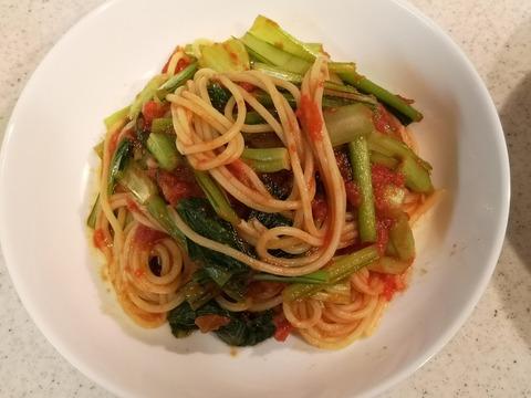 小松菜のトマトパスタ (9)