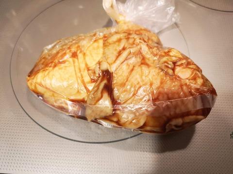 照焼き風茹で鶏 (4)