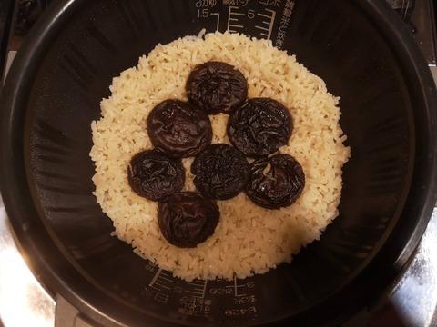 干ししいたけの炊き込みご飯 (3)