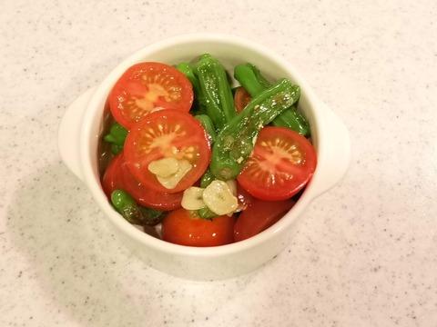 しし唐とミニトマトの温サラダ (6)