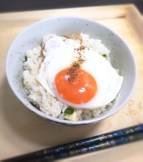 目玉焼き丼 (1)