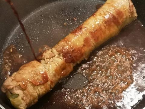 小松菜の牛肉縛り (8)