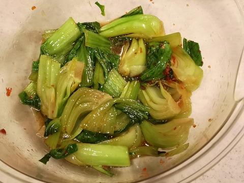 チンゲン菜のピリ辛レンジ蒸し (5)