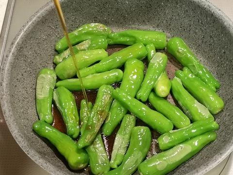 しし唐のすっぱい炒め (4)