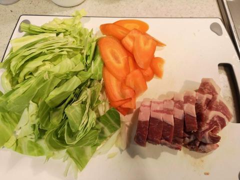 厚切り豚バラの回鍋肉 (2)