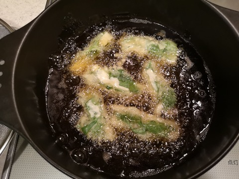 長芋の紫蘇巻き天 (6)