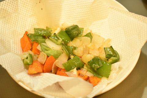 牛肉と揚げ野菜のオイスターソース炒め (6)