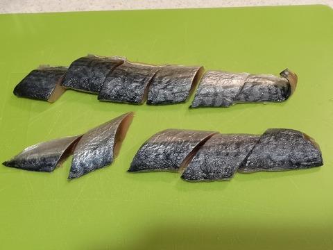 鯖のカレー揚げ (2)