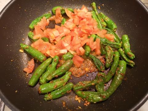 しし唐のカレー煮 (6)