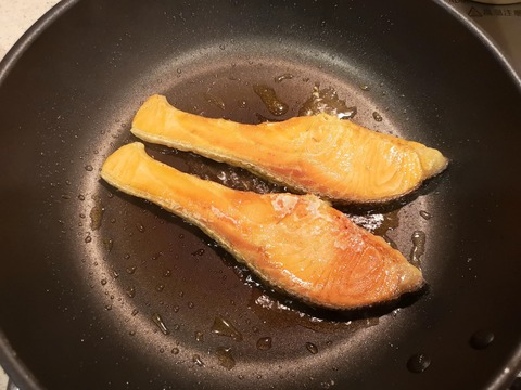 鮭の照焼き (4)
