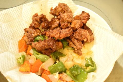 牛肉と揚げ野菜のオイスターソース炒め (8)
