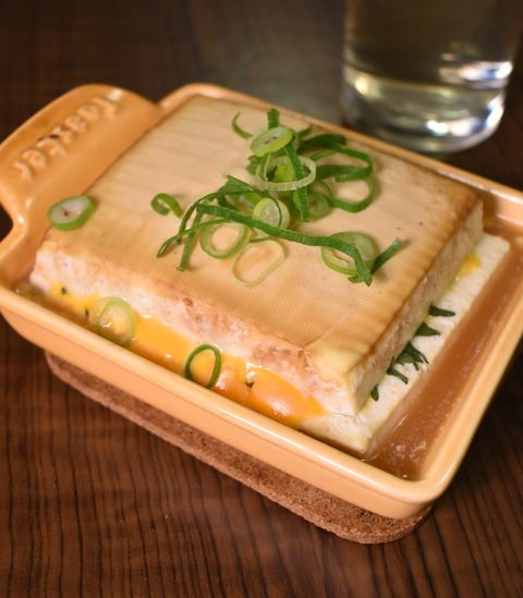 木綿豆腐のチーズ挟み焼き (1)