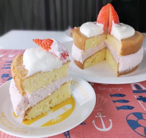 イチゴのムースケーキ (1)