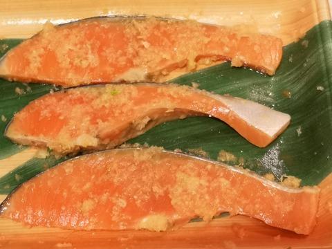 鮭のニンニク焼き (2)