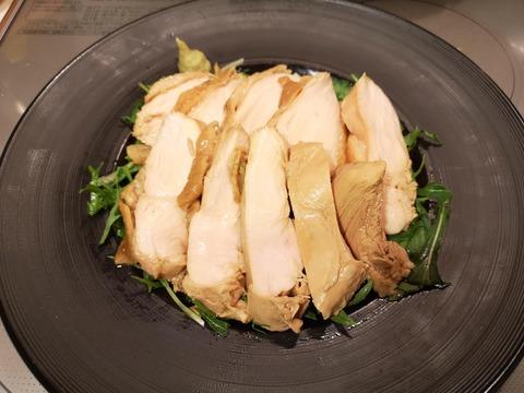 照焼き風茹で鶏 (8)