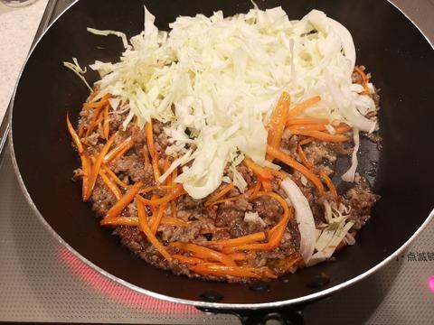 キャベツたっぷり混ぜご飯 (4)