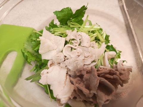 三つ葉と豚肉のマヨネーズ和え (5)