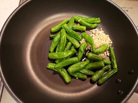 しし唐のカレー煮 (3)