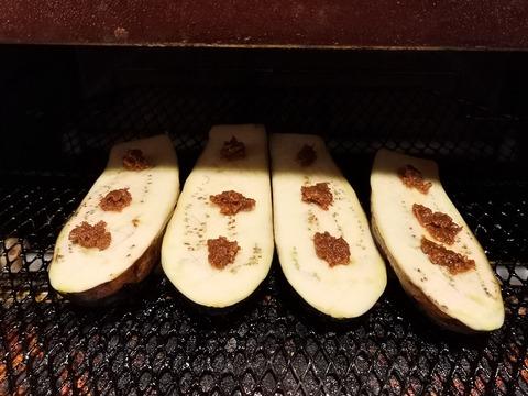 茄子のごま味噌焼き (4)