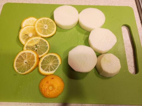 大根の柚子味噌漬け (2)