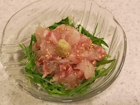 鯛のごま塩和え (5)