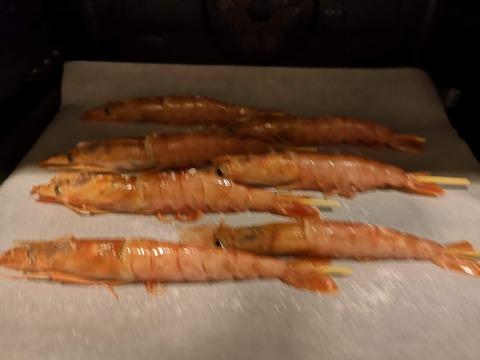 赤エビの塩焼き (5)