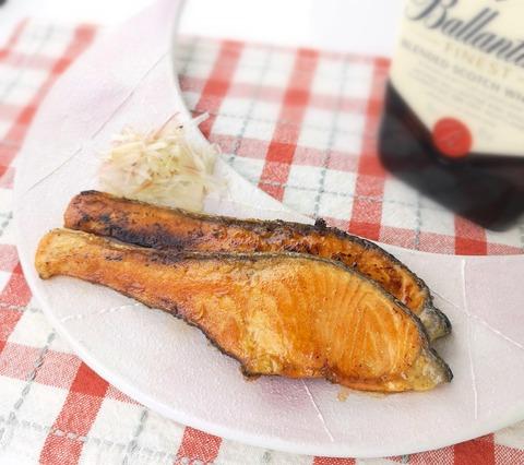 鮭の照焼き (1)