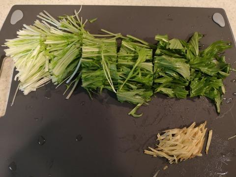 水菜のハリハリサラダ (2)