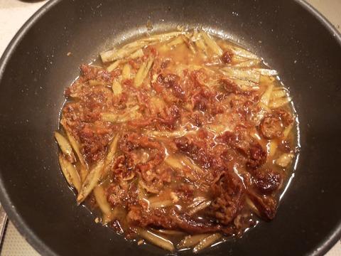 牛肉とゴボウの味噌佃煮 (7)