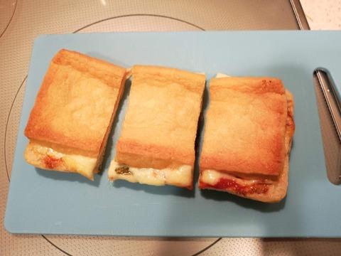 油揚げのサンドピザ (8)